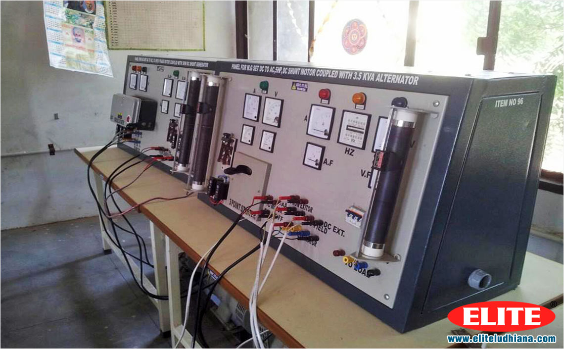 Electrical Machine Lab Polytechnic Engineering College School Training Purpose Electrical Machine Labs manufacturers exporters in India Punjab Ludhiana